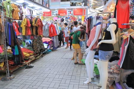platinum: Bangkok Thailand  April 19 2015: Unidentified people shop at popular Platinum market in Bangkok. Editorial