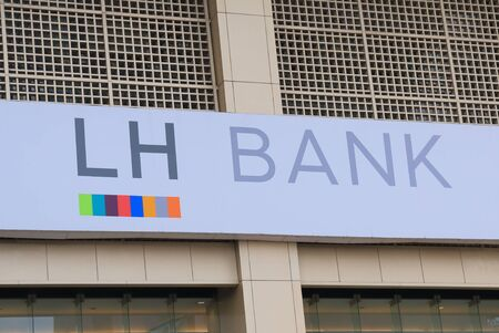 famous industries: Bangkok Thailand  April 20 2015: LH Bank one of the major banks in Thailand. Editorial
