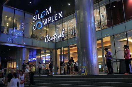 silom: Bangkok Thailand  April 20 2015: Unidentified people shop at Silom Complex Central in Bangkok. Editorial
