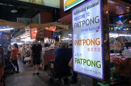 Bangkok Thailand  April 20 2015: Unidentified people shop at Patpong Night market in Silom Bangkok. 報道画像