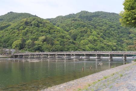 ponte giapponese: Arashiyama Togetsu bridge in Kyoto.
