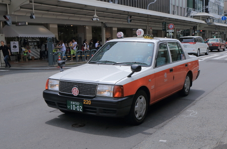 Kyoto Japan - May 6, 2015: Japanese taxi in Kyoto.
