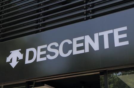 Tokyo Japan - May 8, 2015: Descente, sports fashion company headquartered in Osaka Japan.