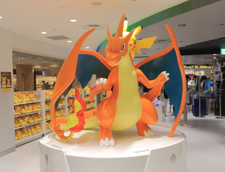 Tokyo Japan - May 9, 2015: People shop at Pokemon shop in Ikebukuro.