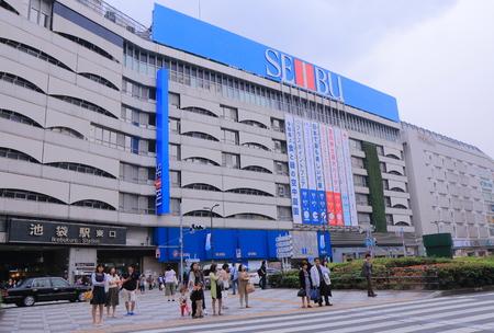 Tokyo Japan - May 9, 2015: People travel at Ikebukuro station. Editoriali
