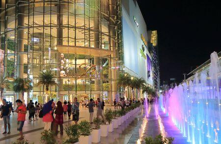 paragon: Bangkok Thailand - April 21, 2015: People visit Siam Paragon shopping mall in Bangkok.