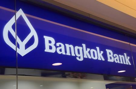 famous industries: Bangkok Thailand - April 22, 2015:Bangkok Bank. Bangkok Bank in Thailand.