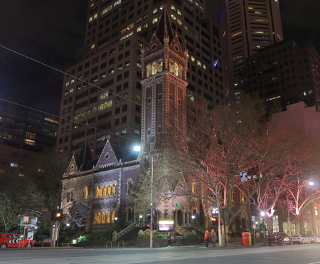 uniting: Melbourne Australia - September12, 2015:Historical St Michaels Uniting Church in Melbourne downtown. Editorial