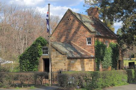 fitzroy: Historical building Cooks cottage in Fitzroy Garden Melbourne Australia
