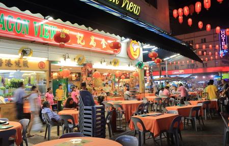 bukit: Kuala Lumpur Malaysia - 26 May, 2014: People dine on Jalan Alor Bukit Bintang Kuala Lumpur Malaysia