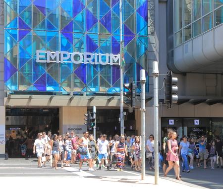 emporium: Melbourne Australia - December 5, 2015: People shop for Christmas at Emporium.