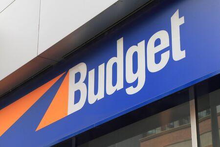 rental: Melbourne Australia - December 5, 2015: Budget car rental company.