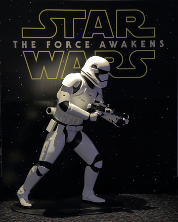 Melbourne Australia - December 26, 2015: Star Wars display at Hoyts movie cinema.