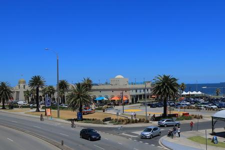 st kilda: Melbourne Australia - December 29, 2015: St Kilda beach in Melbourne.