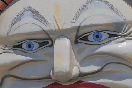 st kilda: Melbourne Australia - December 29, 2015: Famous Luna park amusement park front gate.
