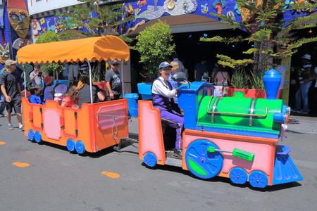 st kilda: Melbourne Australia - December 29, 2015: People visit Luna Park amusement park.
