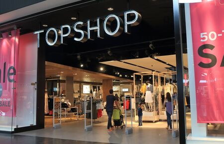 retailer: Melbourne Australia - January 1, 2016: Topshop store, British fashion retailer with more than 500 shops worldwide.