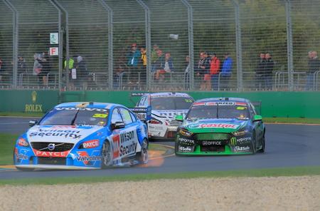 v8: Melbourne Australia - March 18, 2016: V8 Super cars race at Albert Park Melbourne.
