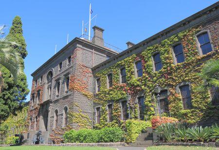 barracks: Victoria Barracks historical building Melbourne Australia Editorial