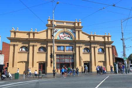 Melbourne Australia - April 24, 2016: People vist Queen Victoria Market in Melbourne.