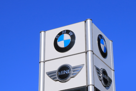 cooper: Melbourne Australia - April 24, 2016: BMW Mini Cooper car manufacturer. Editorial