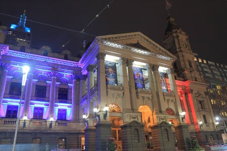 historical architecture: Melbourne Australia - July 17,2016: Melbourne City Town Hall historical architecture.