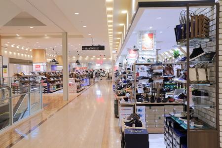 Kanazawa Japan - October 7, 2016: People visit Kirara Kanazawa department store in Kanazawa Japan.