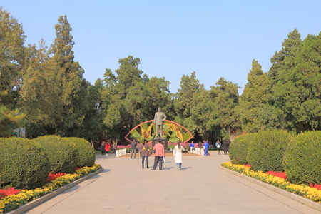 deng xiaoping: Beijing China - October 26, 2016: Unidentified people visit Zhongshan Park.