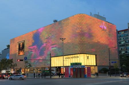 Seoul South Korea – October 21, 2016: Galleria shopping mall in Gangnam. Editorial