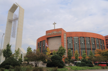 Seoul South Korea – October 22, 2016: Yoido Full Gospel Church. Yoido Full Gospel Church s a Pentecostal church affiliated with the Assemblies of God in Seoul with about 480000 members. Editorial
