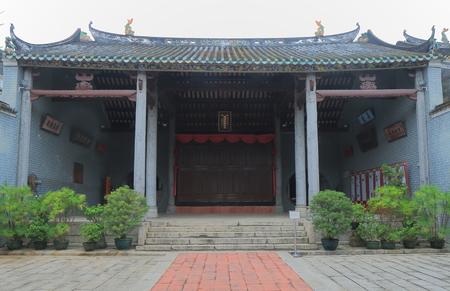 Ping Shan Heritage Trail historical Tang Ancestral Hall in Hong Kong. Editorial