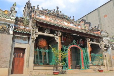 차이나 타운 호치민 시티 베트남에서 Thien Hau 사원. Thien Hau 사원 차이나 타운에서 중국 바다 여신 Mazu의 중국 스타일 사원입니다. 스톡 콘텐츠