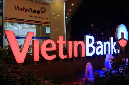 Ho Chi Minh City Vietnam - Novrember 28, 2016: Vietinbank. Vietinbank is a state-owned Vietnamese bank founded in 1991.