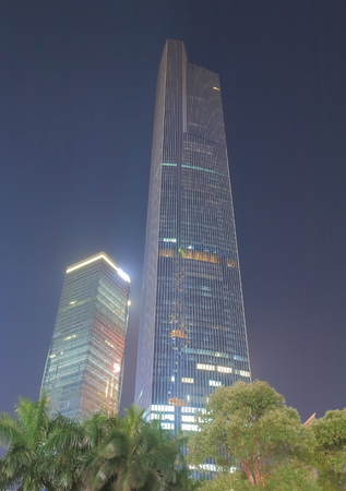 Guangzhou China - November 13, 2016: CTF Finance Center. CTF Finance Center is a 1739 foot 530 m tall mixed use skyscraper in downtown Guangzhou.