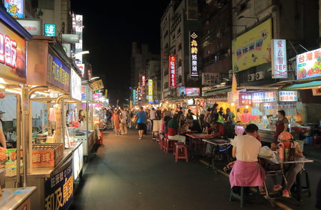 Kaohsiung Taiwan - December 13, 2016: Unidentified people visit Liuhe night street market. Liuhe market is one of the most popular markets in Taiwan.