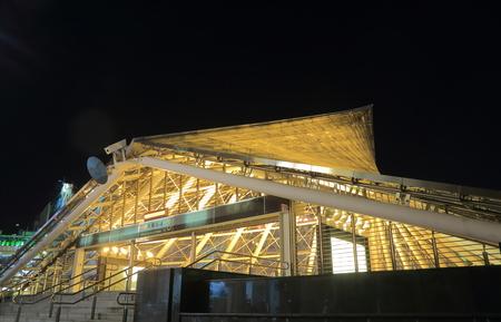 formosa: Kaohsiung Taiwan - December 13, 2016: Contemporary Formosa Boulevard subway station.