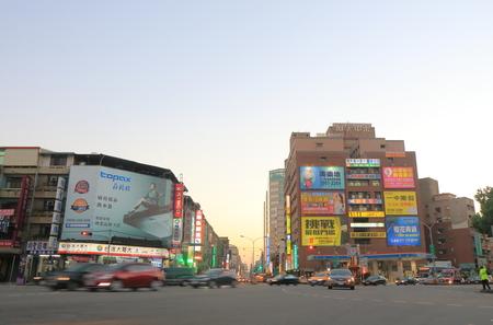 Taichung Taiwan - December 9, 2016: Unidentified people vist Sanmin road shopping street.