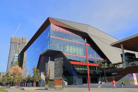 icc: Sydney Australia - May 30, 2017: People visit International Convention Centre in Sydney Australia.