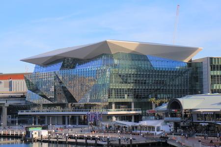 Sydney Australia - May 30, 2017: People visit International Convention Centre in Sydney Australia.