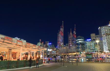 Sydney Australia - May 30, 2017: People visit Darling Harbour-Harbourside in Sydney Australia.