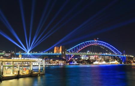 Harbour bridge Sydney harbor cityscape Sydney Australia Foto de archivo