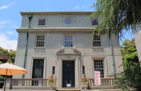 perry: Yokohama Japan - May 28, 2017: the Archive of History museum in Yokohama Japan. Archive of History displays materials of the connection with foreign powers since the arrival of Commodore Matthew Perry in 1853