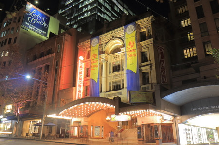 regent: Melbourne Australia-June14, 2017: Unidentified people visit Iconic Regent theatre in Melbourne Australia. Regent Theater is a 2162 seat theatre first opened in 1929. Editorial