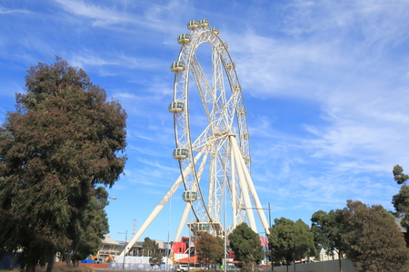 Melbourne Australia - July 2, 2017: Melbourne Star. Melbourne Star is a giant Ferris wheel opened in December 2013 and attracts many locals and tourists