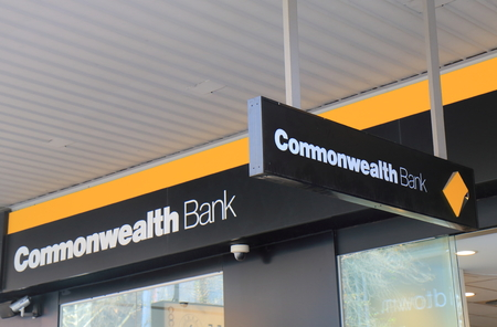 Melbourne Australia - July 7, 2017: Commonwealth Bank of Australia. Commonwealth Bank also known as CBA is one of the four largest bank in Australia