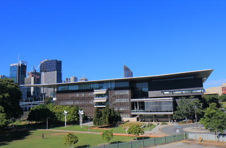 Brisbane Australia - July 8, 2017: GOMA museum in Brisbane Australia. GOMA Queensland Government of Modern Art is the largest gallery of modern and contemporary art in Australia.