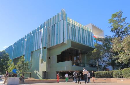 Brisbane Australia - July 8, 2017: People visit the State Library of Queensland in Southbank in Brisbane Australia.