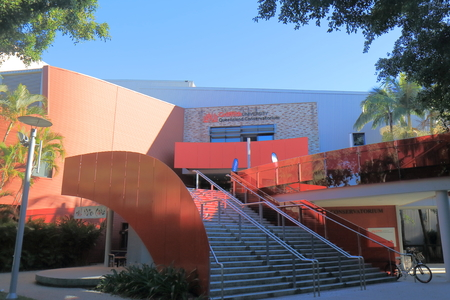 Brisbane Australia - July 8, 2017: Griffith University in Brisbane Australia. Griffith University is a public research university in South East Queensland founded in 1971. Editorial