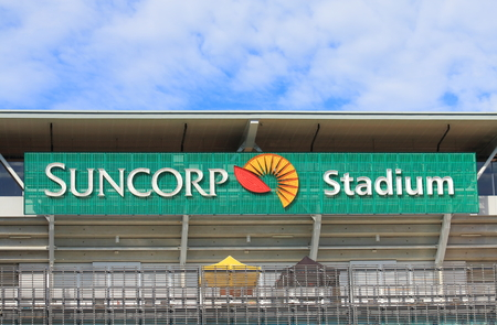 Brisbane Australia - July 9, 2017: Stadiums Queensland in Brisbane Australia. Stadiums Queensland manages the use of major sporting and entertainment facilities on behalf of the Queensland Government. 新聞圖片