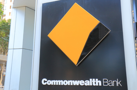 Brisbane Australia - July 9, 2017: Commonwealth Bank of Australia. Commonwealth Bank also known as CBA is one of the four largest bank in Australia